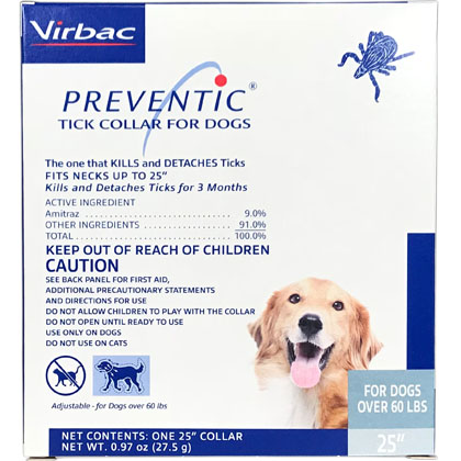 Preventic Amitraz Tick Collar for Dogs (Click for Larger Image)
