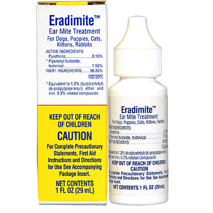 Eradimite Ear Mite Treatment (Click for Larger Image)