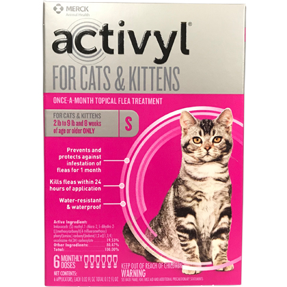 Image of Activyl 6pk Cats & Kittens by Merck