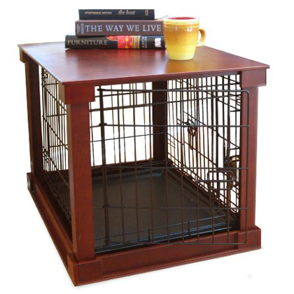 Dog Crate with Wooden Cover (Click for Larger Image)