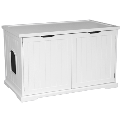 Cat Litter Box Cover and Cabinet (Click for Larger Image)