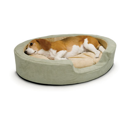 Heated Bolster Dog Bed (Click for Larger Image)