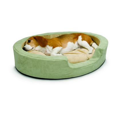 Image of Heated Bolster Dog Bed Large Sage by UTM Distributing
