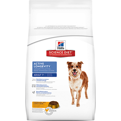 Hill's Science Diet Adult 7+ Active Longevity Dry Dog Food 17.5 lb bag by General Pet Supply 60134