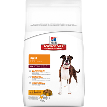 Hill's Science Diet Adult Light Dry Dog Food (Click for Larger Image)