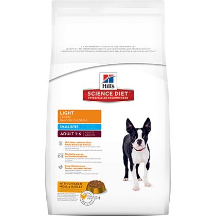 Hill's Science Diet Adult Light Small Bites Dry Dog Food (Click for Larger Image)