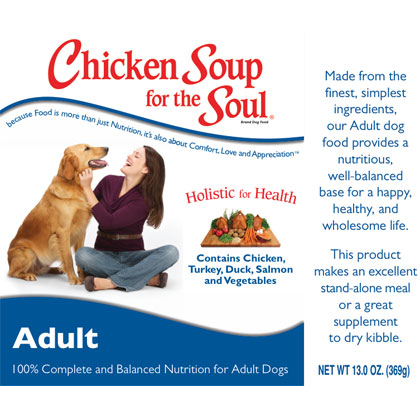 Chicken Soup for the Dog Lover's Soul Canned Dog Food (Click for Larger Image)