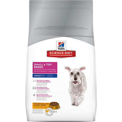 Hill's Science Diet Adult 7+ Small & Toy Breed Dry Dog Food (Click for Larger Image)