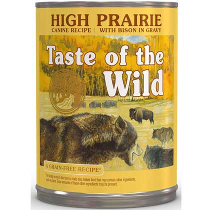 Taste Of The Wild High Prairie Canned Dog Food 12/13.2oz