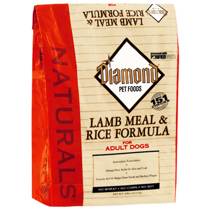Diamond Naturals Lamb Meal and Rice Adult Dry Dog Food (Click for Larger Image)