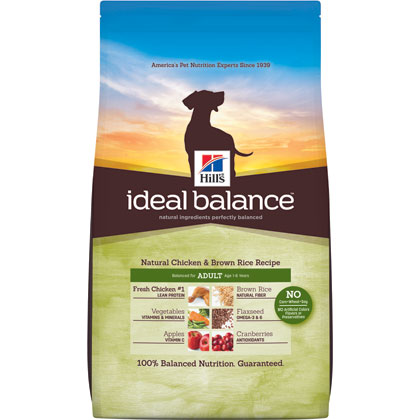 Hill's Science Diet Ideal Balance Chicken & Brown Rice Adult Dog Food (Click for Larger Image)