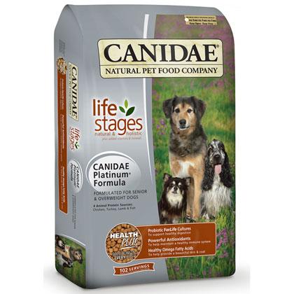 Senior Dog Food >> Canidae Platinum Seniors Overweight Dog Dry Food 15 Lb