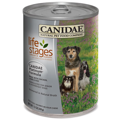 Canidae Platinum Chicken, Lamb and Fish Formula in Chicken Broth Dog Food (Click for Larger Image)