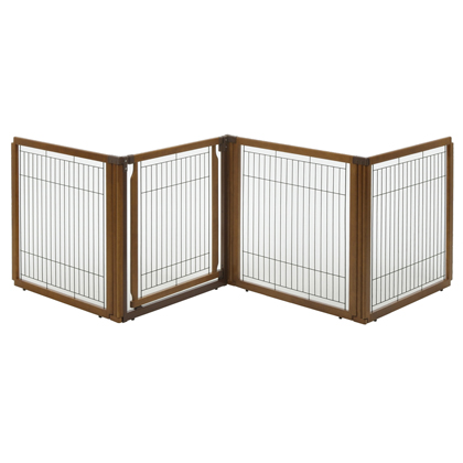 Wood Pet Gate 3-in-1 (4 Panel) (Click for Larger Image)
