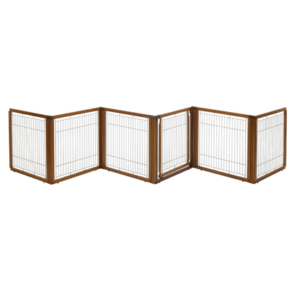 Wood Pet Gate 3-in-1 (6 Panel) (Click for Larger Image)