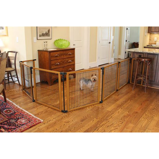 Wood Panel Pet Gate And Pen