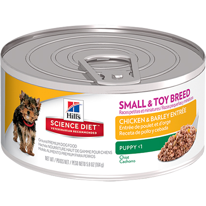 Hill's Science Diet Puppy Small & Toy Breed Gourmet Chicken Entree Canned Dog Food (Click for Larger Image)