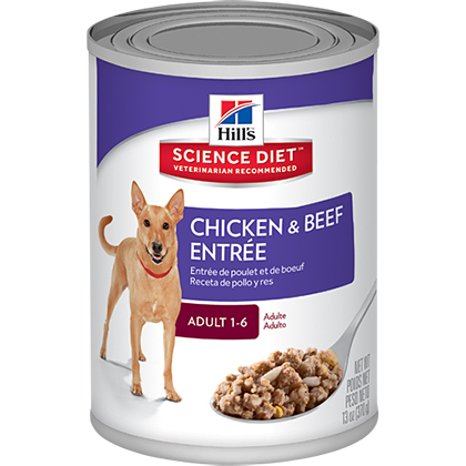 Hill's Science Diet Adult Entrée Canned Dog Food Chicken &