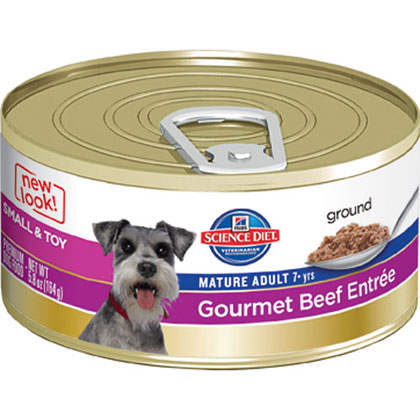 Hill's Science Diet Mature Adult Small and Toy Breed Gourmet Canned Dog Food (Click for Larger Image)
