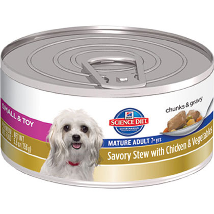 Hill's Science Diet Mature Adult Small and Toy Breed Savory Stew Canned Dog Food (Click for Larger Image)