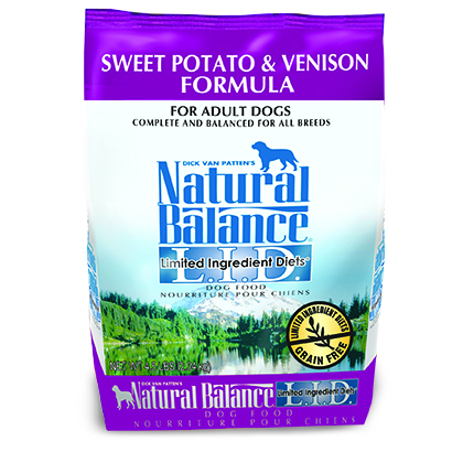 Natural Balance L.I.D. Limited Ingredient Diets Sweet Potato & Venison Formula (Click for Larger Image)