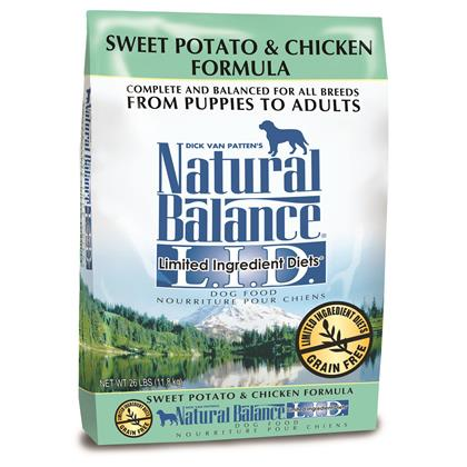 Natural Balance L.I.D. Limited Ingredient Diets Sweet Potato & Chicken Formula (Click for Larger Image)