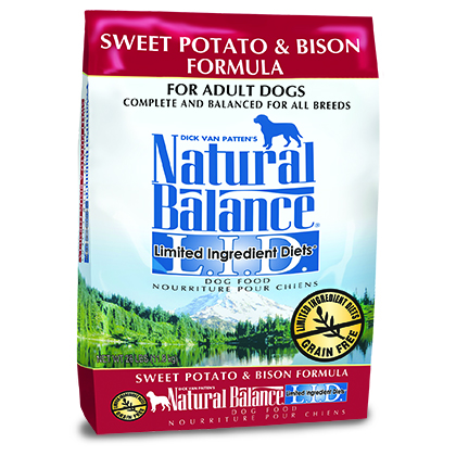Natural Balance L.I.D. Limited Ingredient Diets Sweet Potato & Bison Formula (Click for Larger Image)