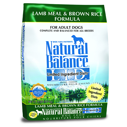 Natural Balance L.I.D. Limited Ingredient Diets Lamb Meal & Brown Rice Formula (Click for Larger Image)