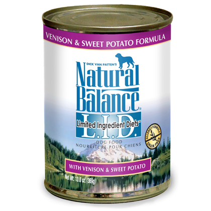 Natural Balance L.I.D. Limited Ingredient Diets Canned Dog Food (Click for Larger Image)