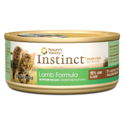 Nature's Variety Instinct Lamb Formula Canned Cat Food 12/5.5oz Cans