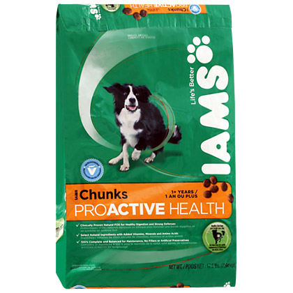 Iams ProActive Health Chunks Adult Dry Dog Food (Click for Larger Image)