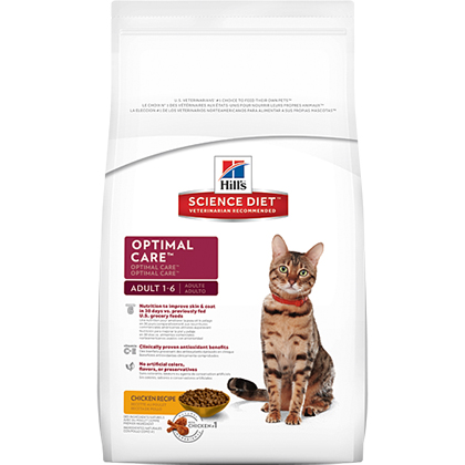 Hill's Science Diet Adult Optimal Care Dry Cat Food Chicken