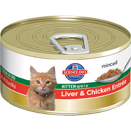 Hills Science Diet Canned Entree Kitten Food (Click for Larger Image)