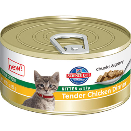 Hill's Science Diet Tender Chicken Dinner Canned Kitten Food  (Click for Larger Image)