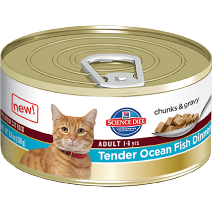Hill's Science Diet Adult Canned Cat Food Tender Ocean Fish