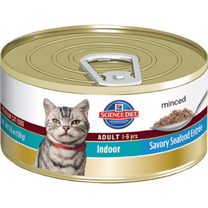 Hill's Science Diet Adult Indoor Savory Entree Minced Canned Cat Food (Click for Larger Image)