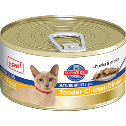 Hill's Science Diet Mature Adult Tender Dinner Canned Cat Food (Click for Larger Image)
