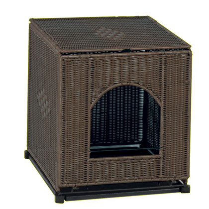 Mr. Herzher's Wicker Litter Box Cover (Click for Larger Image)