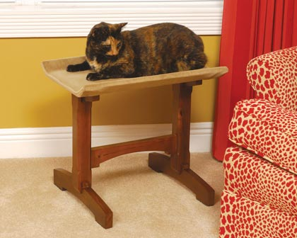 Mr. Herzher's Single Seat Cat Perch (Click for Larger Image)