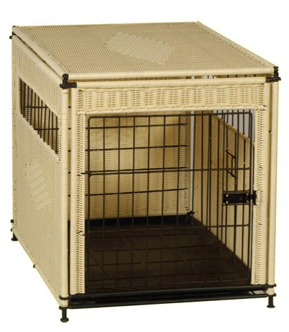 Mr. Herzher's Wicker Indoor Dog House (Click for Larger Image)