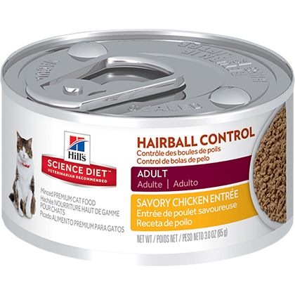Hill's Science Diet Adult Hairball Control Entree Canned Cat Food (Click for Larger Image)