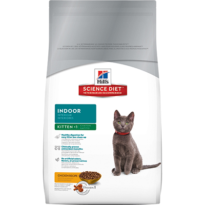 Hill's Science Diet Kitten Indoor Dry Cat Food (Click for Larger Image)