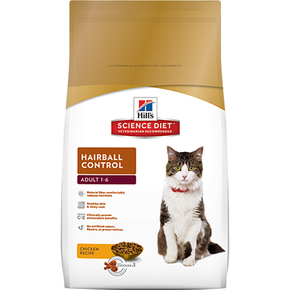Hill's Science Diet Adult Hairball Control Dry Cat Food (Click for Larger Image)