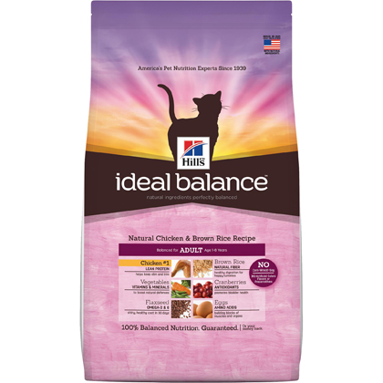Hill's Science Diet Adult Ideal Balance Dry Cat Food  (Click for Larger Image)