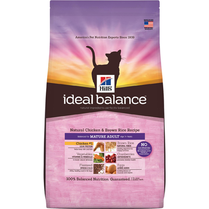 Hill's Science Diet Mature Adult Ideal Balance Dry Cat Food 15 lb bag by General Pet Supply 60606