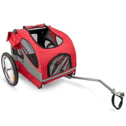 Solvit HoundAbout II Aluminum Pet Bicycle Trailer (Click for Larger Image)