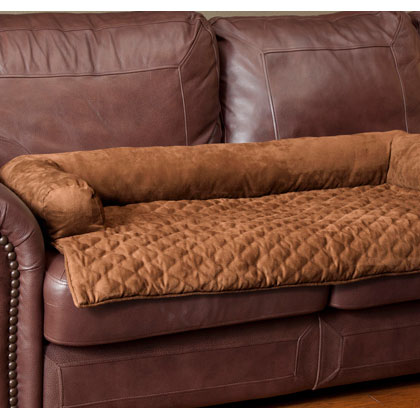 Solvit Sta-Put Bolstered Pet Furniture Protector Large - Cocoa