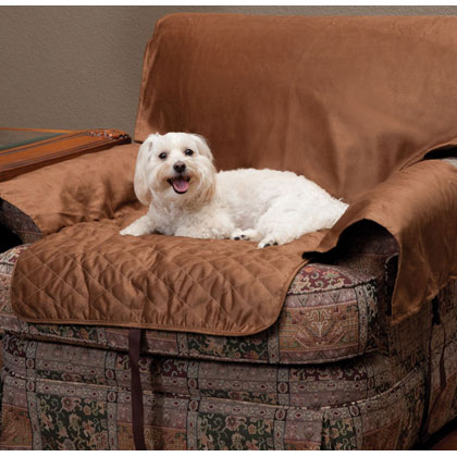 Solvit Sta-Put Full-Coverage Pet Chair Protector Cocoa