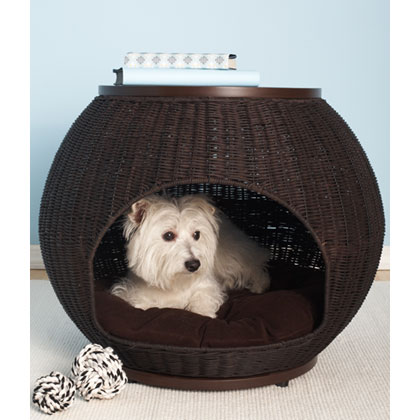 Refined Canine Igloo Deluxe Luxury Wicker Pet Bed (Click for Larger Image)