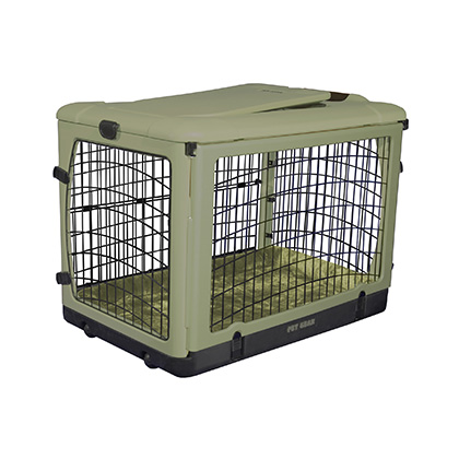 The Super Dog Crate with Cozy Bed (Click for Larger Image)